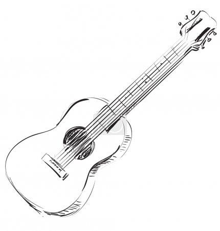 Vector guitar sketch