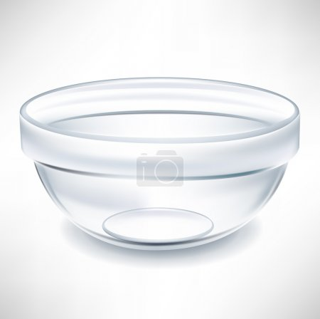 simple transparent empty bowl