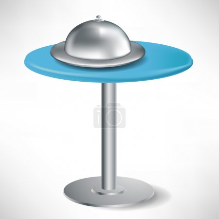 simple round table with catering tray and cap