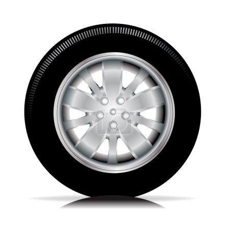 Single isolated tire car wheel