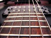 Kytarové struny pražců a pick up