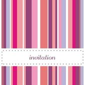 Sweet invitation card with vertical bars vector illustration