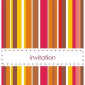 Vector invitation card with vertical bars