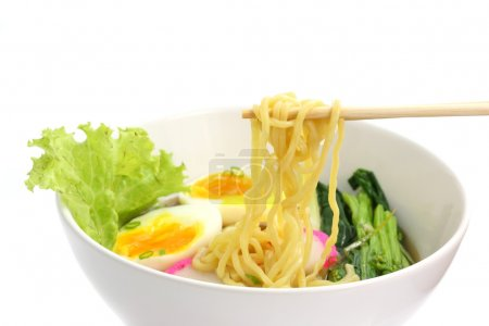 Noodle ranmen Japanese food isolated in white background
