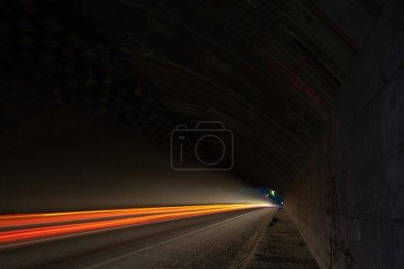 Car lights trails
