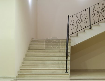 Photo for Empty white room with stairs - Royalty Free Image