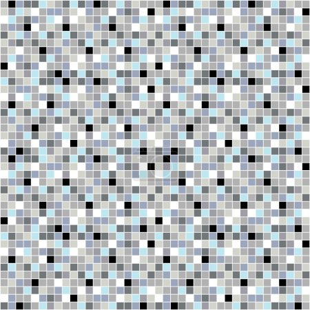 Illustration for Simple mosaic seamless tile pattern. Vector illustration. - Royalty Free Image