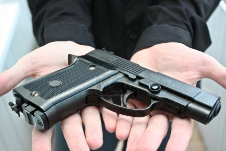 Airgun on hands