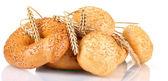 Chléb a housky se sezamem a klásky