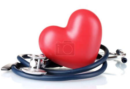 Medical stethoscope and heart