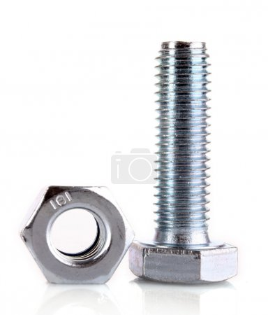 Bolt and screw with reflection