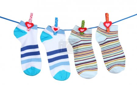 Bright striped socks on line