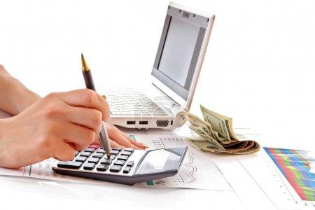 Photo pour Calcul de la croissance financière et des investissements - image libre de droit