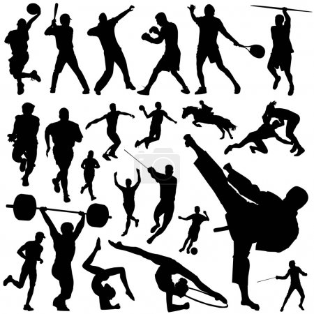 Illustration for Collection of sports silhouettes - Royalty Free Image