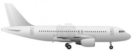 Illustration for Airplane vector (detail illustration) design - Royalty Free Image