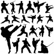 Set of fighter silhouettes...