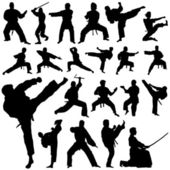 Set of fighter silhouettes