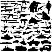 Set of military silhouette design