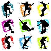 Skateboard silhouette background