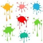 Abstract Paint Splatter...