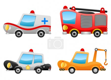 Illustration for Set of vehicle illustrations - Royalty Free Image