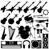 Music instrument silhouette