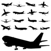 Set of airplane vector