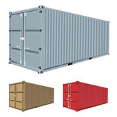Set of freight container vector