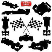 Formula cars flag and icon