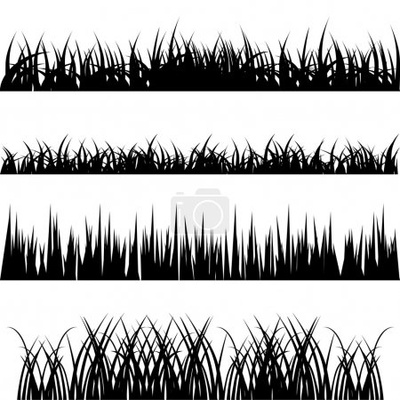 Illustration for Set of grass vector - Royalty Free Image