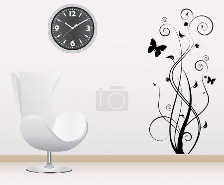 Photo pour Vecteur de décoration murale - image libre de droit