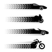 Car and motorbike symbols set
