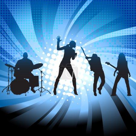 Illustration pour Groupe musical arrière-plan - image libre de droit