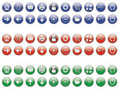Set of 20 sphere buttons in different colors