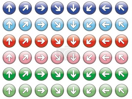 Set of 48 arrows