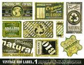 Vintage BIO labels collection - Set 1