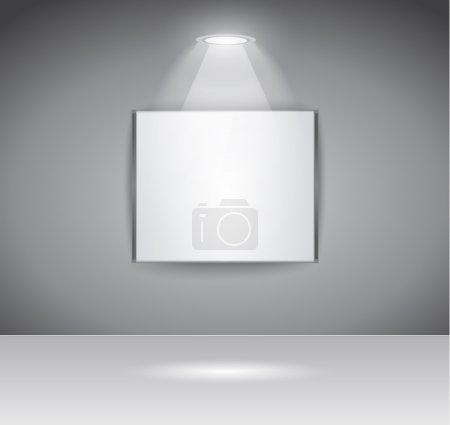Illustration pour Panneau ShowRoom pour l'exposition de slogan ou la publicité d'objet ou pour utiliser comme une page Web d'introduction pour le projet moderne de site Web. - image libre de droit