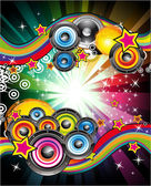 Abstract Musical Event Background