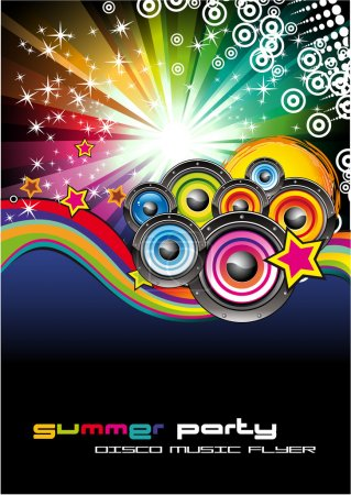 Music Background for Disco Flyers