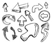 Funny 3D style Collection of Hand Made Sketch Arrows