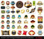 Moderní a vintage emblémy extreme kolekce