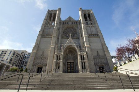 Steps to Grace Cathedral in San Francisco