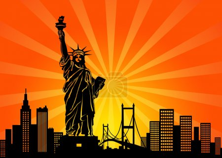 New York Manhattan City Skyline