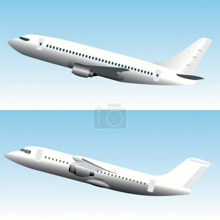 Blank Commercial Airplanes Set