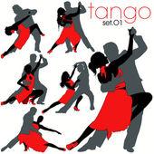 Tango Dancers Silhouettes Set
