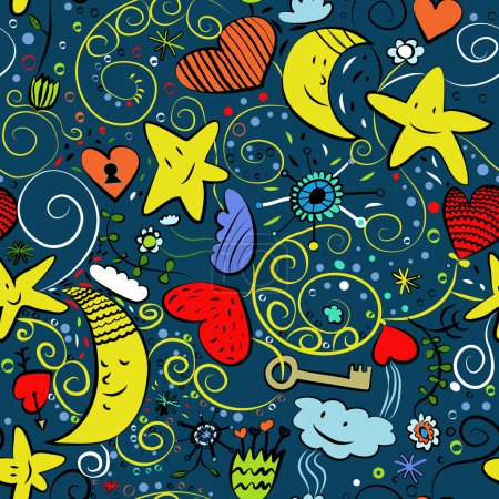 Seamless goodnight pattern