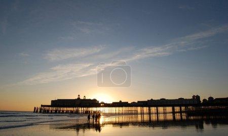 Beach pier at sunset...