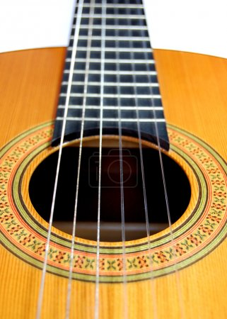 Photo for Close up of a handmade classical spanish guitar - Royalty Free Image