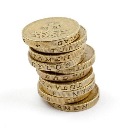 Pile de pièces de 1 £