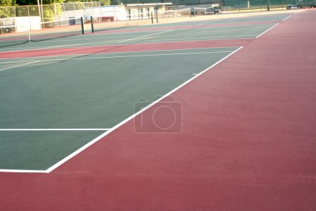 High School Tennis Court Across